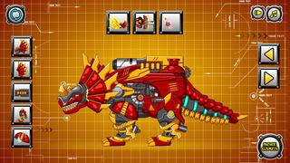 机械三角龙:组装拼装恐龙玩具