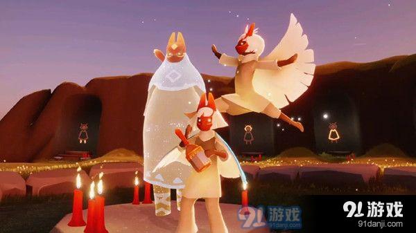 光遇8.13復刻旅行先祖紅狐貍裝扮、四級動作及樂器音色展示