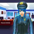動漫女孩警察游戲